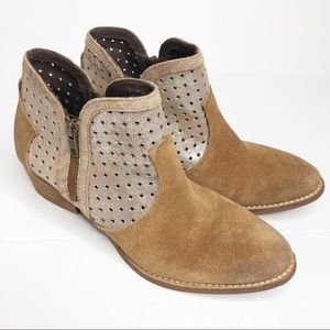 Diba True Show Tunes Ankle Boots Size 9 Tan & Gold